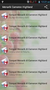Menarik Cameron Highland - náhled