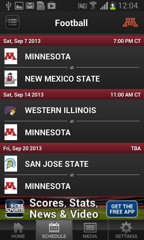Minnesota Gopher Sports - screenshot