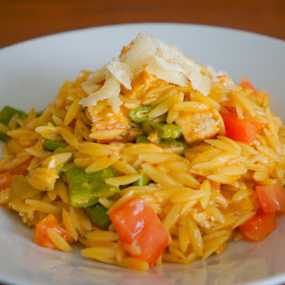 Pesto Orzo with Tyson® Grilled & Ready® Chicken #TysonGrilled&Ready