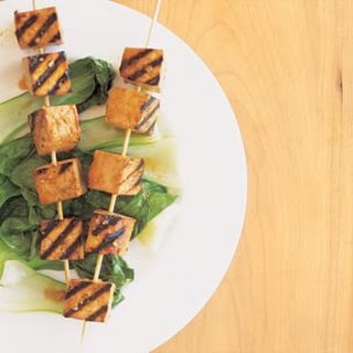 Grilled Tofu Kabobs with Spicy Marinade