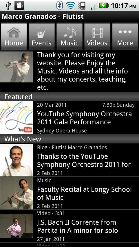 Marco Granados - Flutist - screenshot
