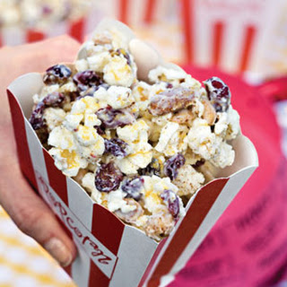 Gold-Dusted White Chocolate Popcorn