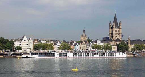 Viking-Rinda-Cologne - The river cruise ship Viking Rinda in Cologne, Germany.