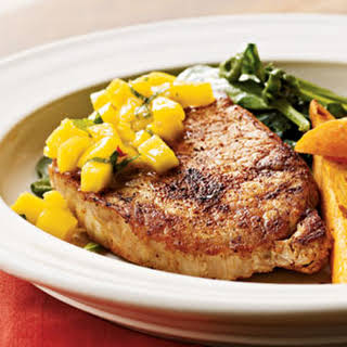 Spiced Chops with Mango-Mint Salsa.