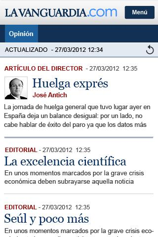 La Vanguardia - screenshot