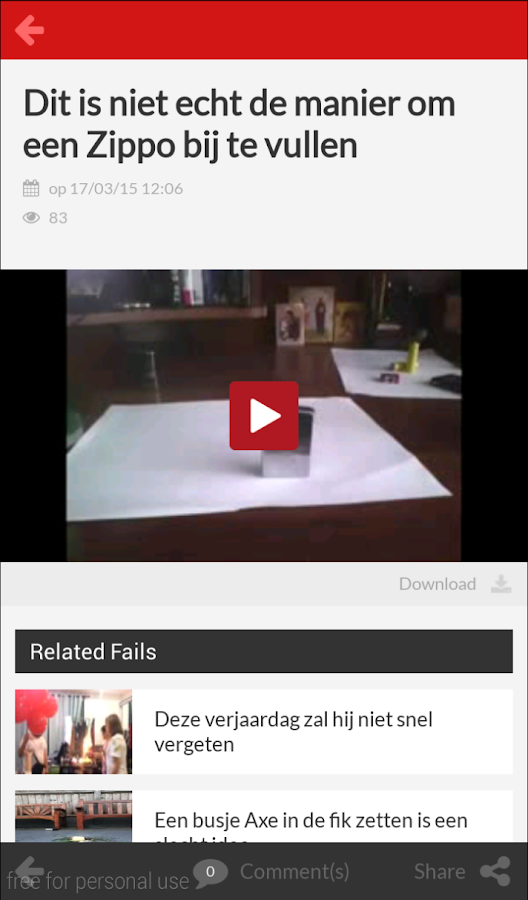 Epic Fails: screenshot
