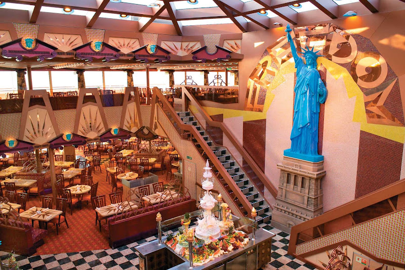 You'll have a wide variety of menu options at the Freedom Restaurant, Carnival Freedom's buffet dining hall.