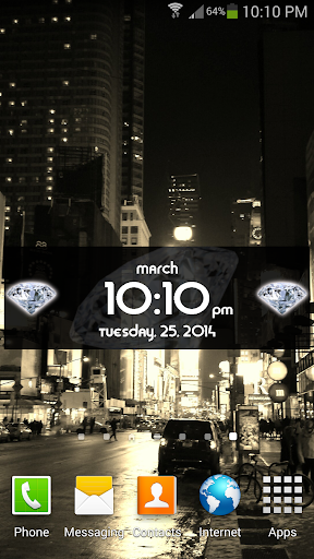 Beautiful Diamond Widget