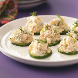 Cucumber Shrimp Appetizers.