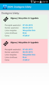 Krakowska Karta Miejska KKM screenshot