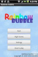 Screenshot of Rainbow Bubble