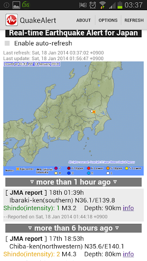 Japan Real-time Quake Alert