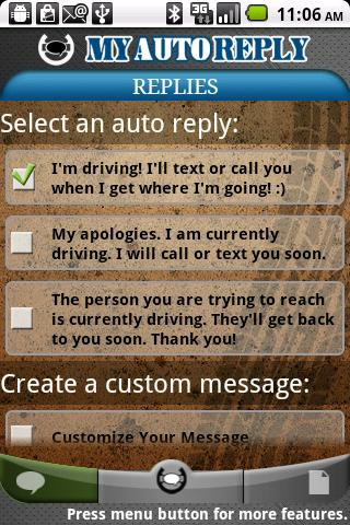 MyAutoReply - screenshot