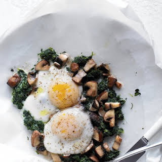 Eggs with Mushrooms and Spinach.