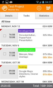 Timesheet - Time Tracker - screenshot thumbnail