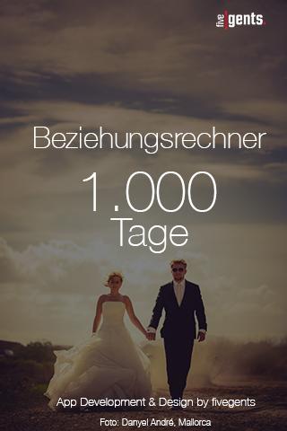 1000 Tage Beziehungsrechner