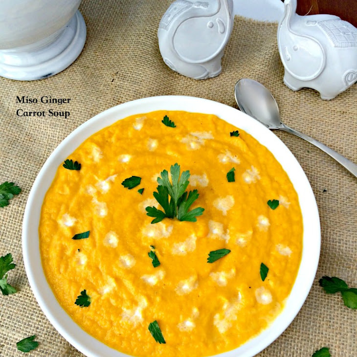 Miso Ginger Carrot Soup Recipe
