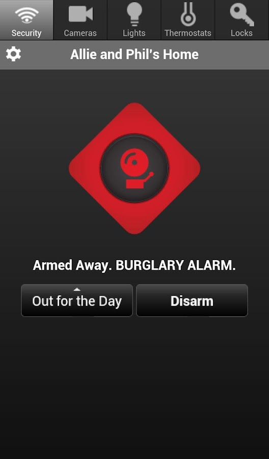 Telguard HomeControl- screenshot