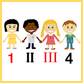 Kids Roman Numbers Flashcards