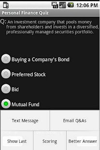 Personal Finance Quiz- screenshot thumbnail