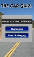 Screenshot of The Car Quiz!