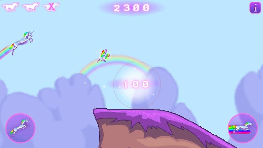 Robot Unicorn Attack: screenshot