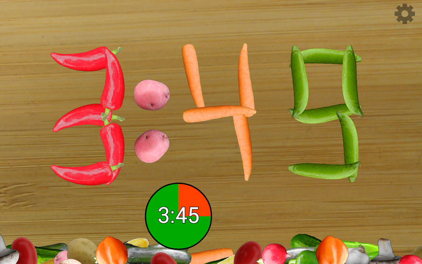 Veggie Clock: Alarm,Timer,Fun- screenshot
