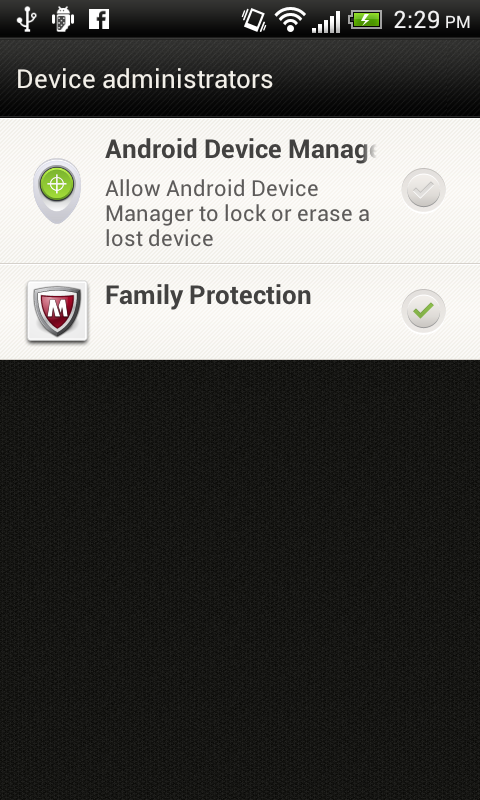 McAfee Family Protection - screenshot