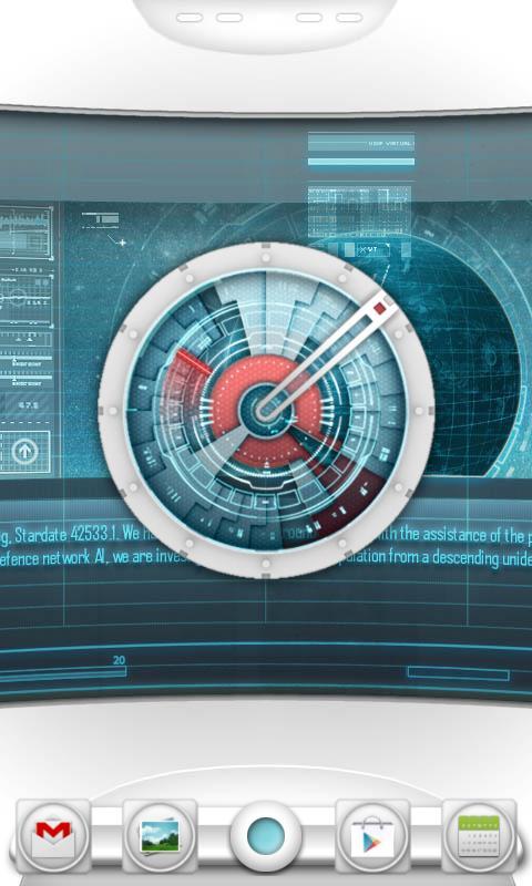 Starship Console Clock Widget- screenshot