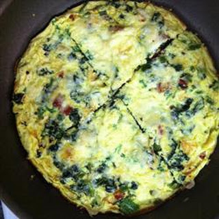 Frittata with Leftover Greens