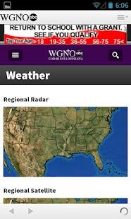 WGNO News - New Orleans - screenshot thumbnail