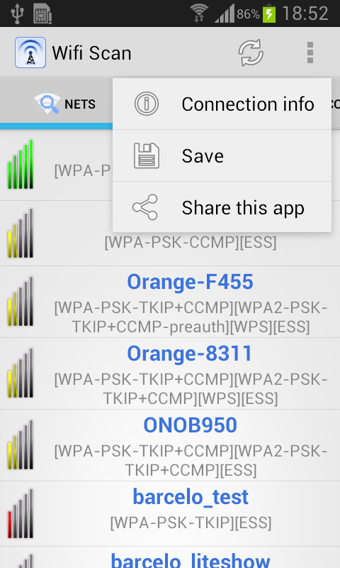 WIFI Scan Pro- screenshot