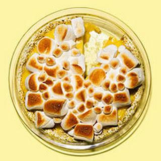 Lemon Cream Pie with Marshmallow & Pistachio Crust