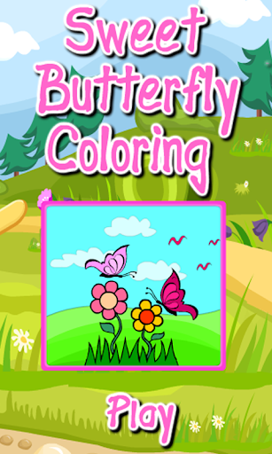 Coloring Sweet Butterfly