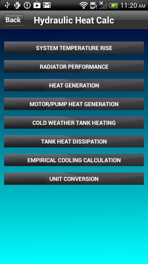 Hydraulic Heat Calculator- screenshot