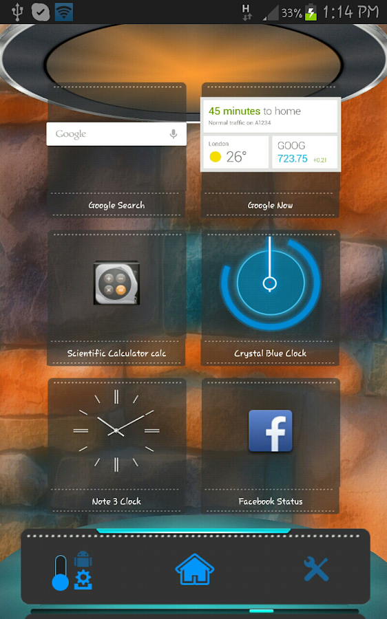 Chrome Next Launcher HD Theme - screenshot