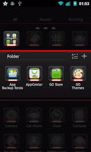 Toxic Red Go Launcher Theme - screenshot thumbnail
