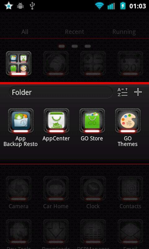 Toxic Red Go Launcher Theme - screenshot