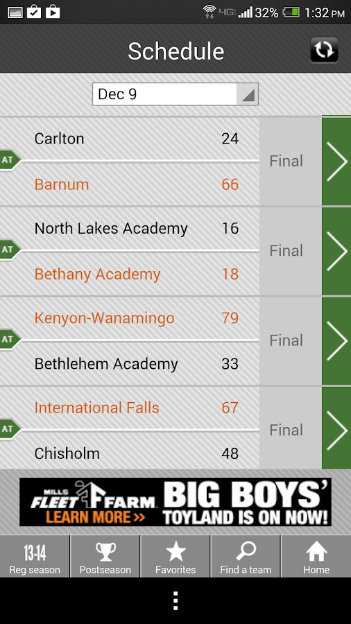 Girls' Basketball Scoreboard - screenshot