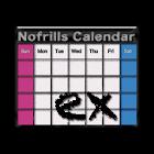 No frills Calendar EX icon