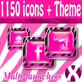Pink Zebra W Theme + Icon Pack