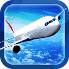 Flight simulator boeing 3D fly icon