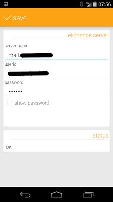 Exchange Calendar Sync - screenshot