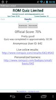 Screenshot of ROM Quiz Limited