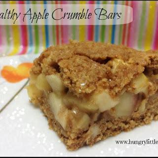 Healthy Apple Crumble Bars.