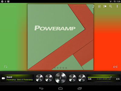 Poweramp skin Dark Metallic v1.5
