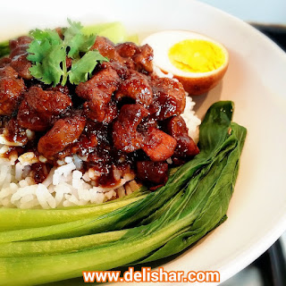 Taiwanese Braised Pork Rice (Lu Rou Fan)