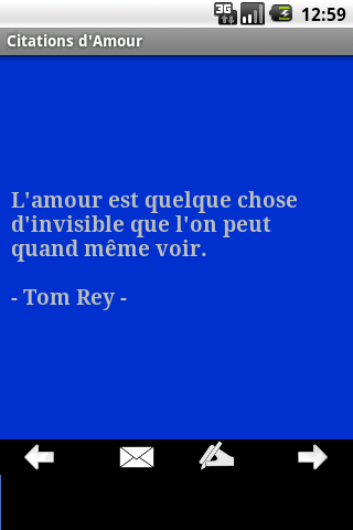 Citations d'amour - screenshot