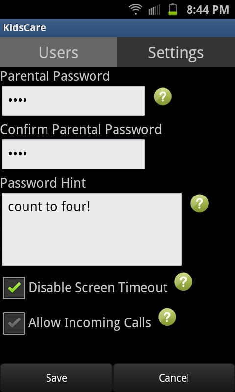 KidsCare - Child Lock - screenshot