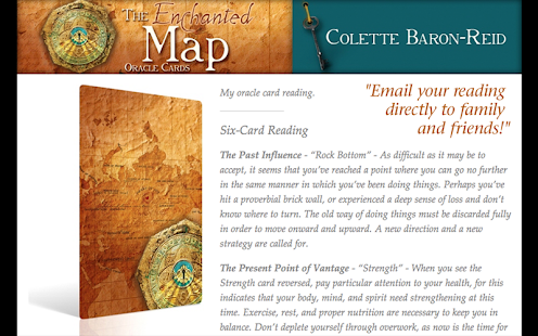 Enchanted Map Oracle Cards - screenshot thumbnail